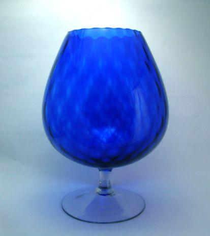 Giant Italian Art Glass Cobalt Blue Snifter Vase –  Circa: Mid 1900's