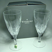 Boxed Set of Two Waterford Crystal Footed Beverage Glasses – Lismore Traditions Pattern, Made in Ireland, Style Number 127924