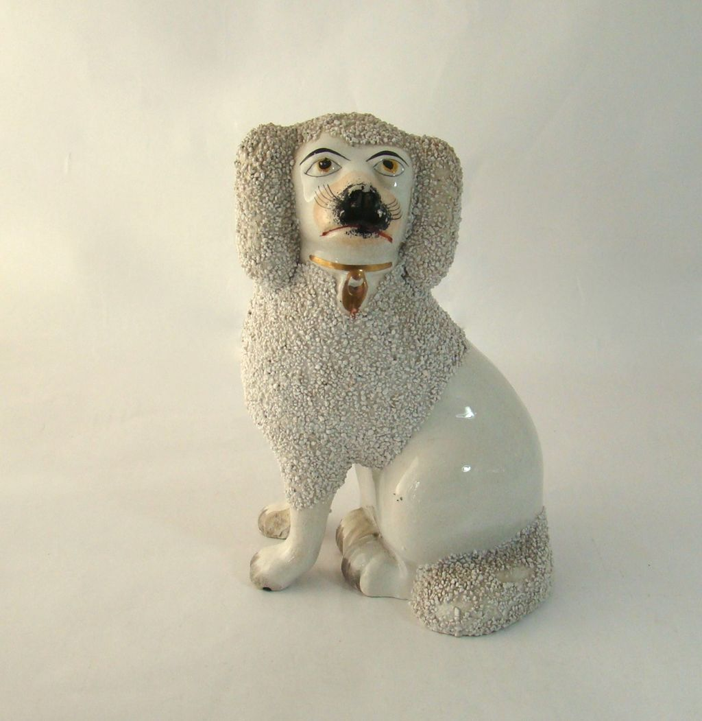 Antique Staffordshire Poodle – Late 1800's