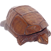 Decorative Wood Carving – Turtle Figure
