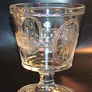 Early American Pattern Flint Glass Spooner Minerva/Cupid & Venus Pattern