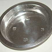 British Sterling Silver Pin or Trinket Dish –  Circa 1959