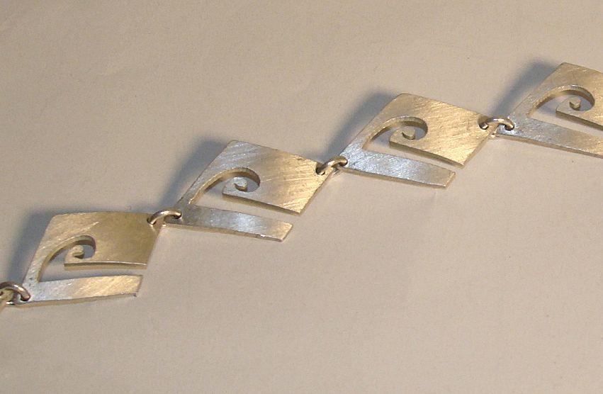 Sterling Silver Square-Linked Bracelet