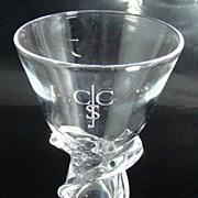 Steuben Crystal Vase – Spiral Pattern