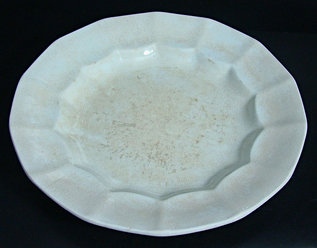English White Ironstone Dessert Plate – James Edwards & Son  Circa: 1842 -1851