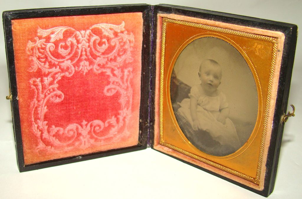 Tintype Formal Portrait of a Baby – Circa: Mid 1800's