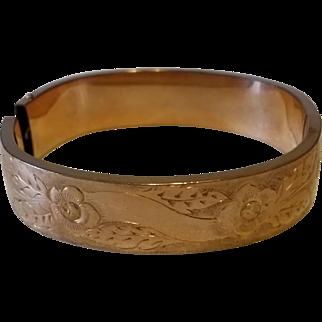 Victorian Gold Filled Magnificent Cuff Bangle Bracelet