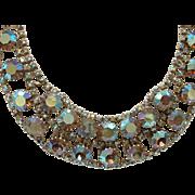 Vintage Signed Alice CAVINESS A/B Aurora Borealis Glitzy Rhinestone Necklace