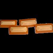 Vintage Two Tone Bakelite Buttons (Set 4)