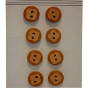 Vintage BAKELITE Two Tone Cookie Buttons Set MOC