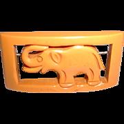 Vintage BAKELITE Elephant Brooch Pin