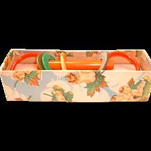 Vintage BAKELITE and Plastic Child's Teething Toy MIB