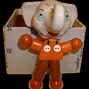 Vintage BAKELITE and Plastic Tykie Crib Toy Eppy the Elephant