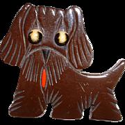 Vintage Figural Scottie Dog BAKELITE Pin Brooch