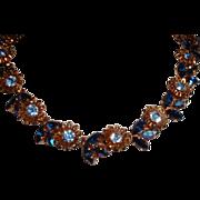 Vintage Signed Austrian SCHOFFEL Rhinestone Necklace