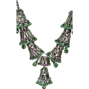 Vintage Rhinestone Necklace Unsigned Hobe