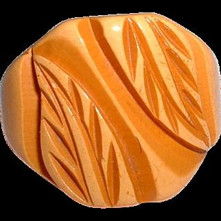 Vintage Carved BAKELITE Ring