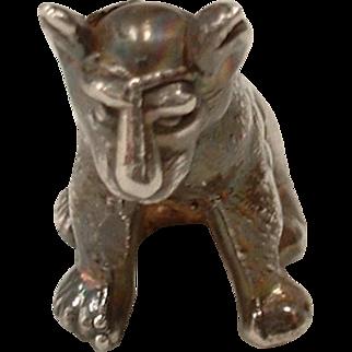 Vintage 1960's Sterling Silver Miniature Lion Object