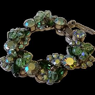 Vintage JULIANA Cha-Cha 5 Link Rhinestone Link Bracelet