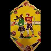 1940's Football Hero and Gal Pal Hankie Handkerchief
