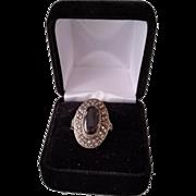 Vintage Sterling Silver Marcasite Ring