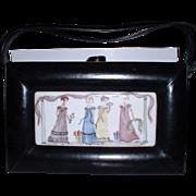 Vintage Rosenfeld Black Leather Purse Handbag