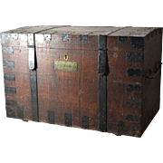 19th c Oak Silver Chest with Military History