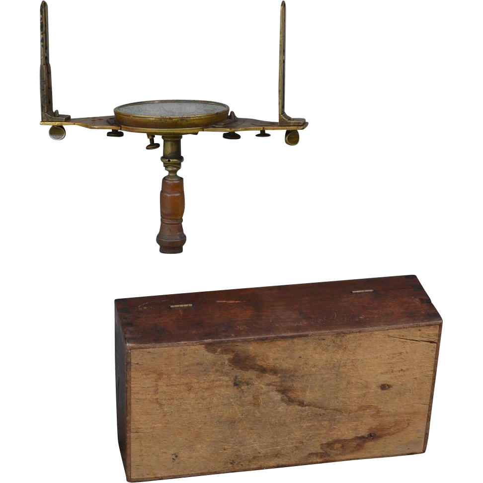 American 19th century Survey Compass William J Young Philadelphia