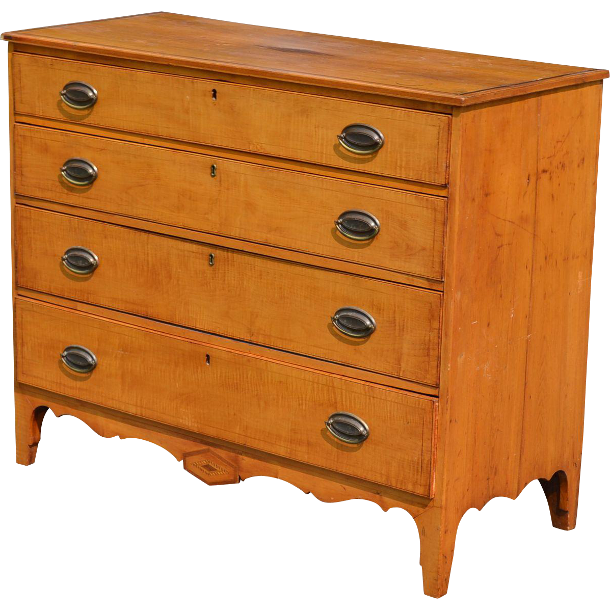 Tiger Maple Federal Inlaid Chest