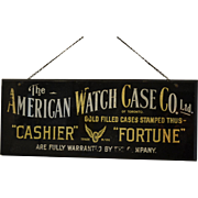Rare Sign : American Watch Case Company