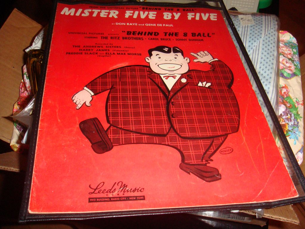 1942 'Mister Five By Five' Sheet Music Great for Framing