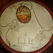 Great Little Powder Tin Lavender Bath Langlois New York Tindeco