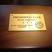 Wooden Jewelry Box Presentation Plate Miami University