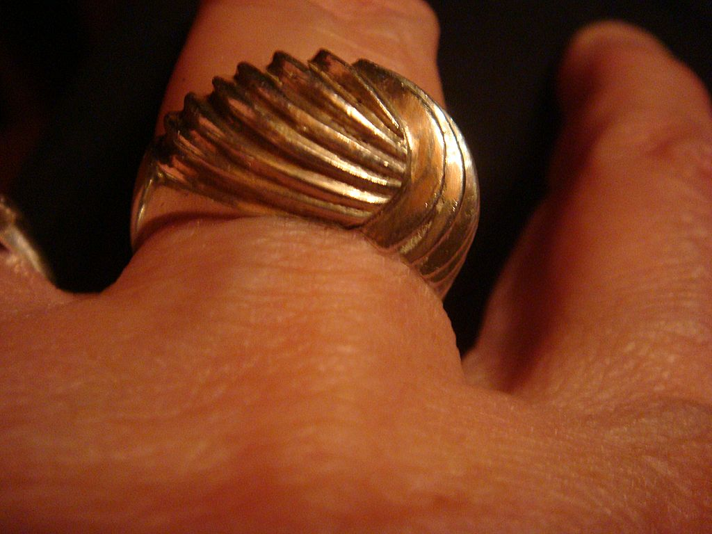 Big and Chunky Sterling Silver Domed Ring Marked
