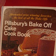 1969 Pillsbury's Bake Off Cake Cook Book Hardback