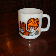 Little Orphan Annie & Her Dog Glasbake D Handle Mug