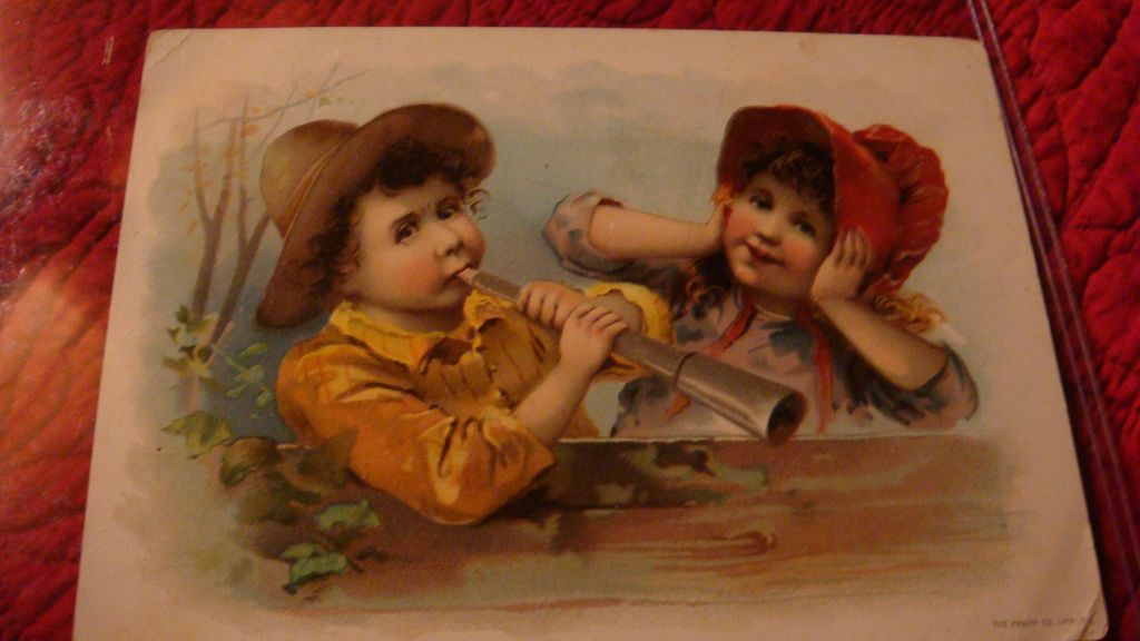 Oversized 1893 Advertising Greeting Card LION COFFEE Knapp Co., Woolson Spice Children