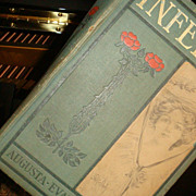 1875 Hardback Book INFELICE Novel by Augusta..Evans..Wilson Illustrated Davis - Red Tag Sale Item