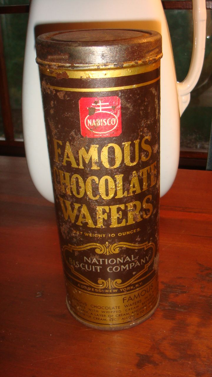 Vintage Famous Chocolate Wafers Tin Nabisco National Biscuit ...