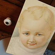 German American Novelty Arts Baby Postcard Adorable Blond!