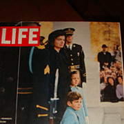 LIFE Magazine JFK Assassination: Jackie, John Jr.,  Caroline Kennedy Wait to Process to Capitol