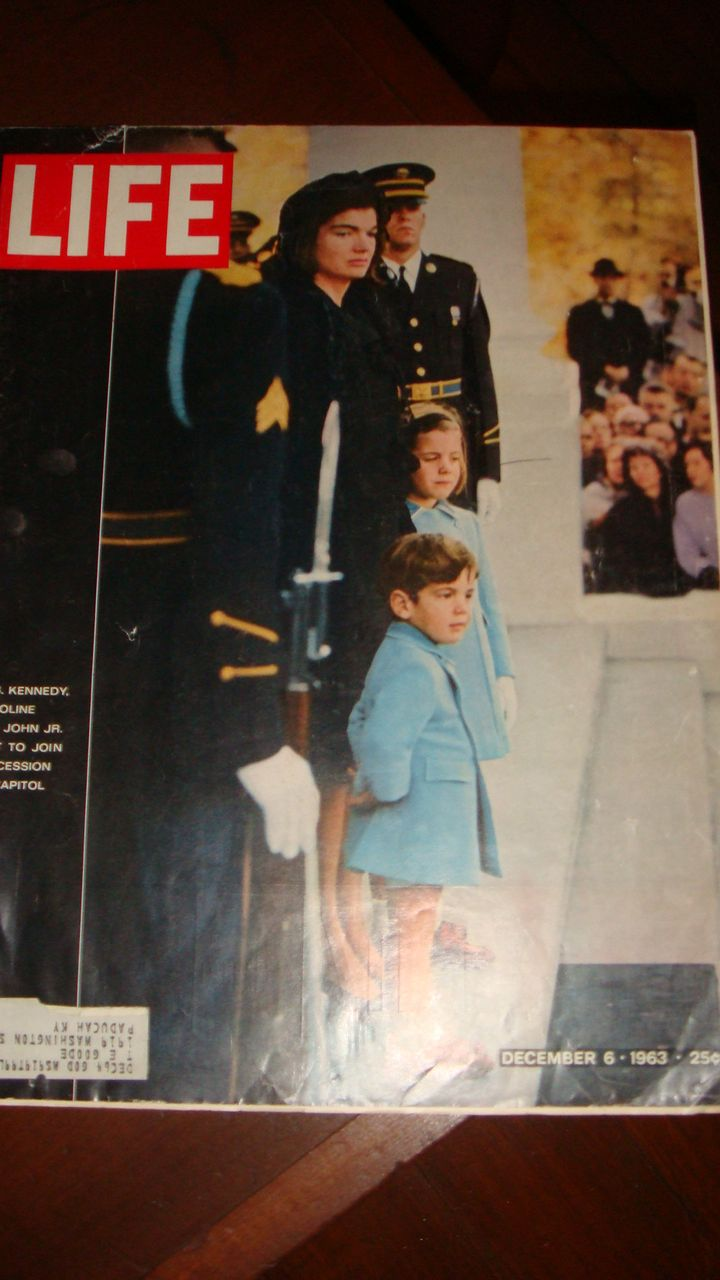 LIFE Magazine JFK Assassination: Jackie, John Jr.,  Caroline Kennedy Wait to Process to Capitol