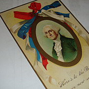 Early 1900's Germany Embossed Postcard George Washington Birthday Patriotic Unused