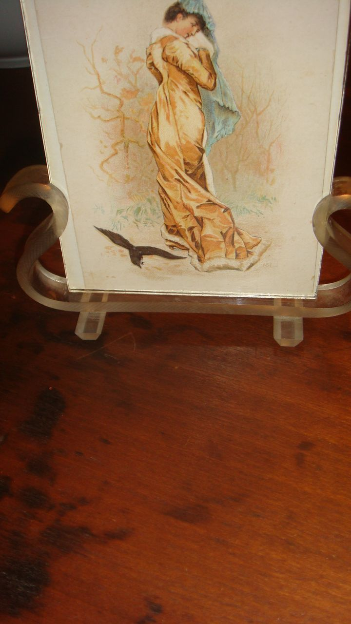Lyre Shaped Vintage Lucite Frame With Two Sides Photos Lovely Ladies