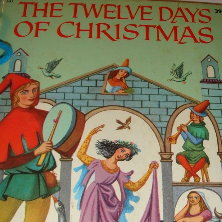 1956 Wonder Books The Twelve Days of Christmas Washable Cover