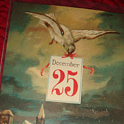 Early German Christmas Postcard Dove Delivers December 25 Greetings to the Village