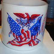 Americana Mug Vivid Colors Spirit of 76, Flags, Eagle, Liberty Bell, Revolution Bicentennial