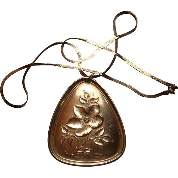 1973 Towle Sterling Silver Medallion Three French Hens Ornament With Chain Christmas