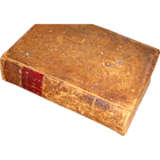"1849 METHODIST HYMNS Leather 6 1/2"" Book Primitive"