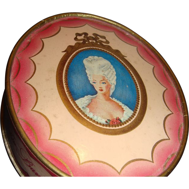 Richard Hudnut DuBarry Face Powder Box Cameo Style Portrait Box